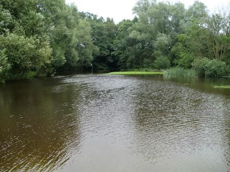 Nach sinflutartigem Regen ist der Golfplatz in Tessin gespeert